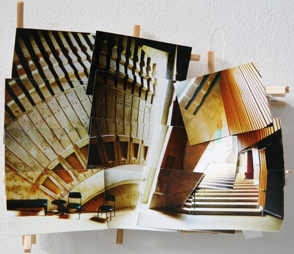 'Two Chairs', 2013, C-print on museum board, wood and hardware, 20x22x6cm