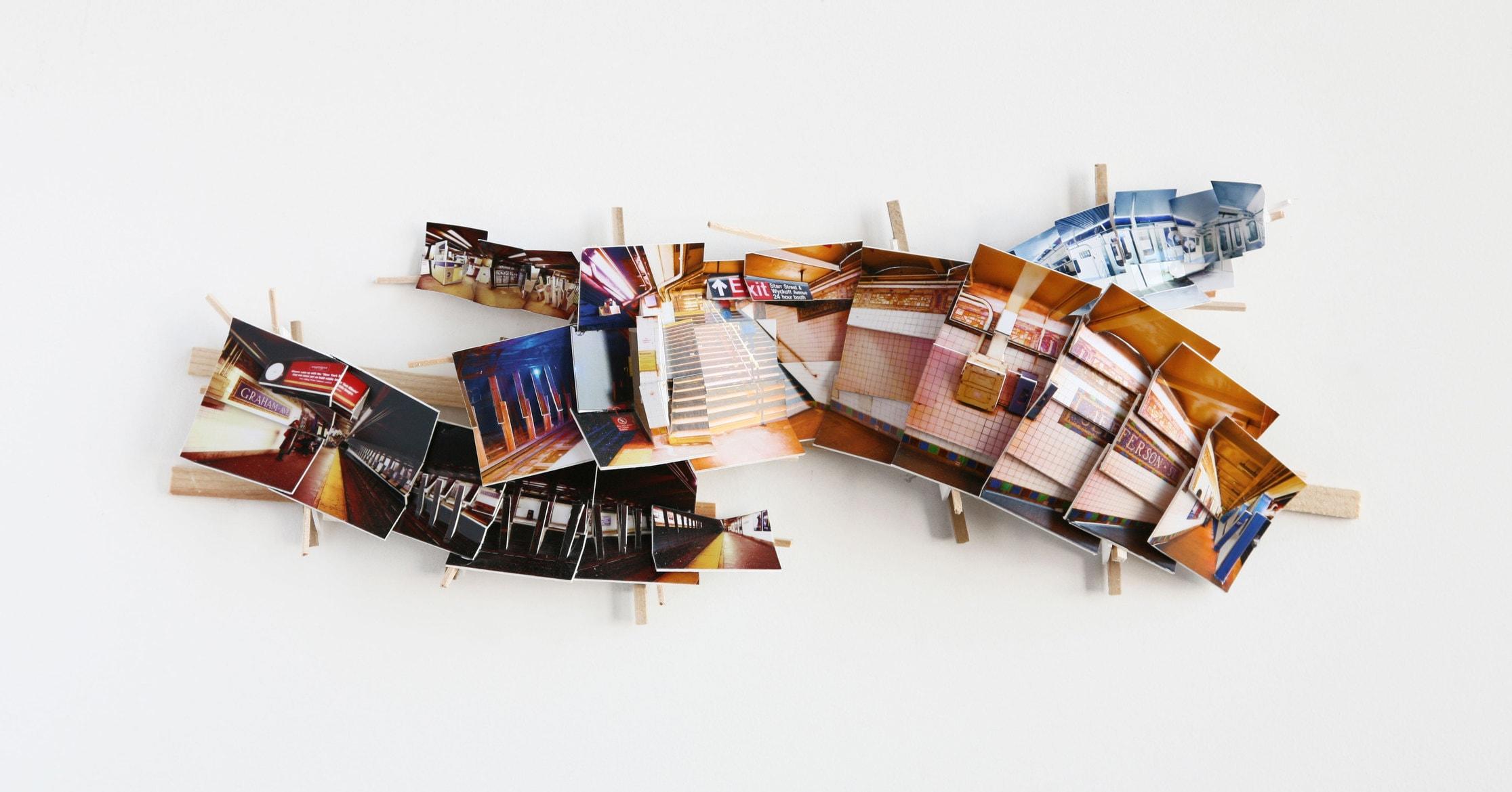 'Model 1', 2016, C-print, wood, museum board, 48 x 20 x 5 cm