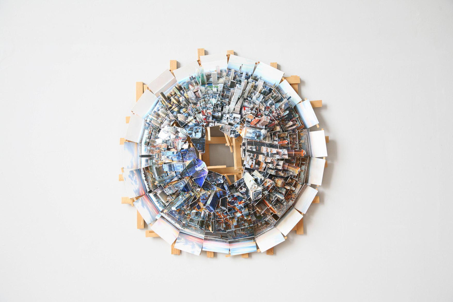 'New York Planet', 2017, C-print, wood, museum board, 60 x 60 x 20 cm