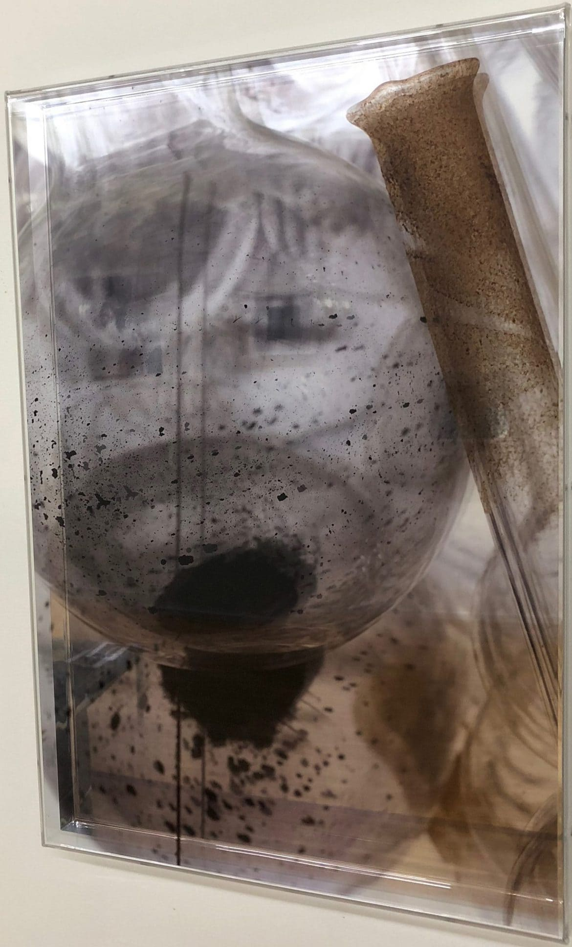 'Waiting - The Fugitives no 9', 2010, duraclear on acrylic with mirror and oil pigment, 50 x 35 cm