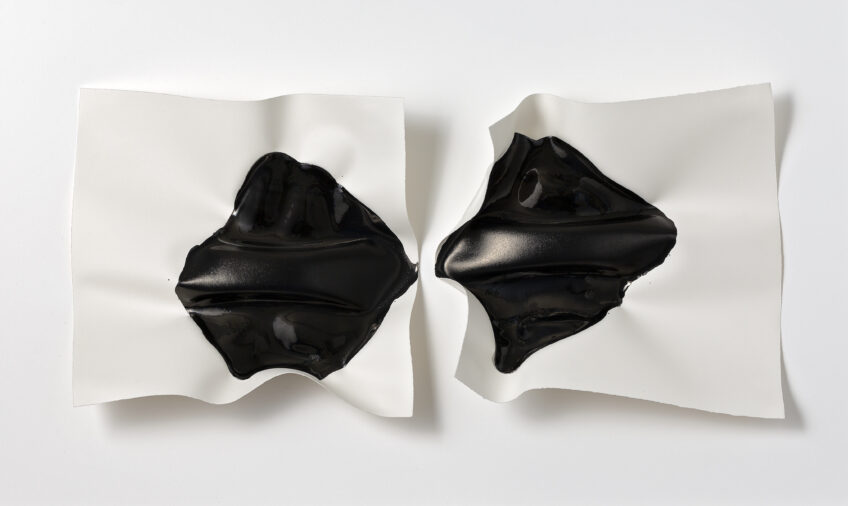 Emma Fielden, 'Confluence II', 2020, diptychs, ink on 300gsm Arches paper, framed 740 x 445mm.