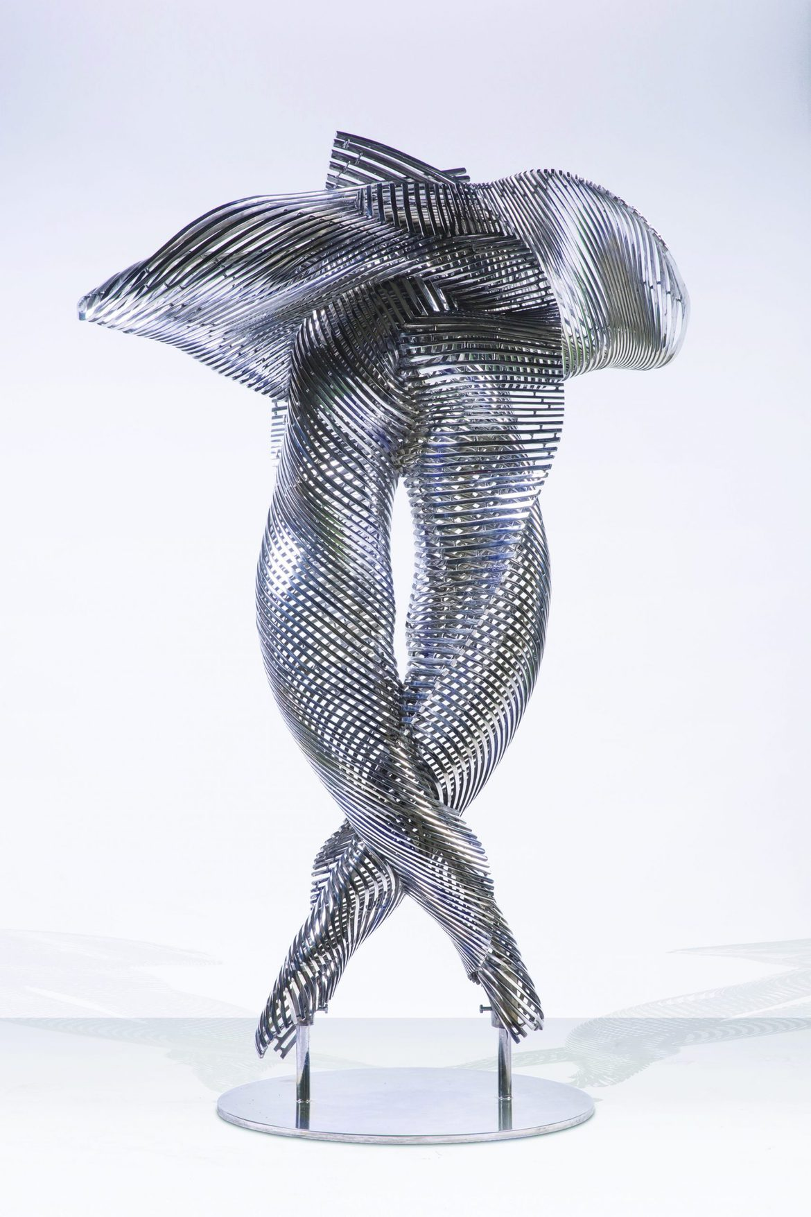 'Embrace', 2018, stainless steel, 160 x 109 x 65 cm, edition 1 of 7 + 1AP