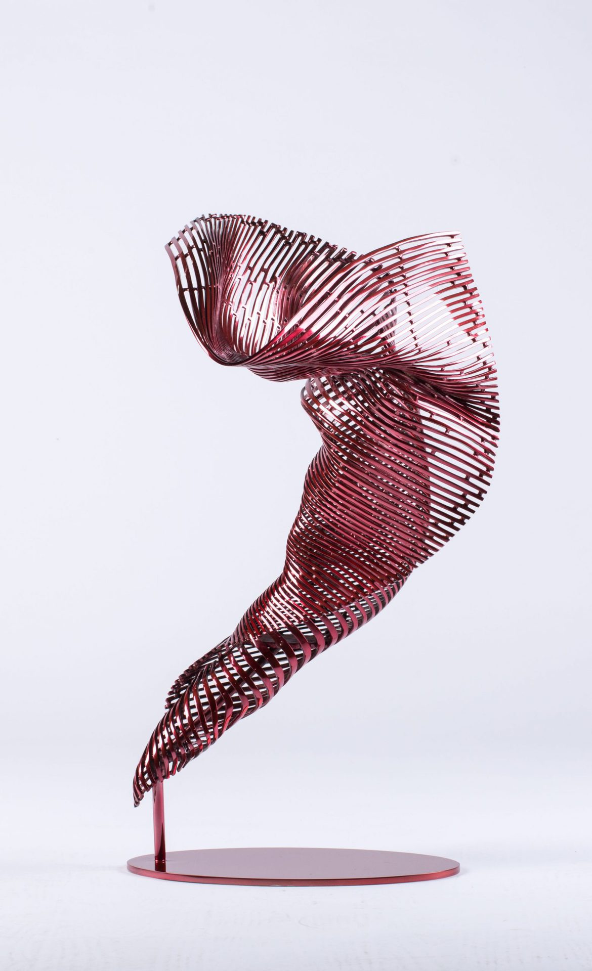 'I Am-Dancer', stainless steel, red polychrome, 69 x 38 x 39 cm, edition 1 of 12 + 1AP