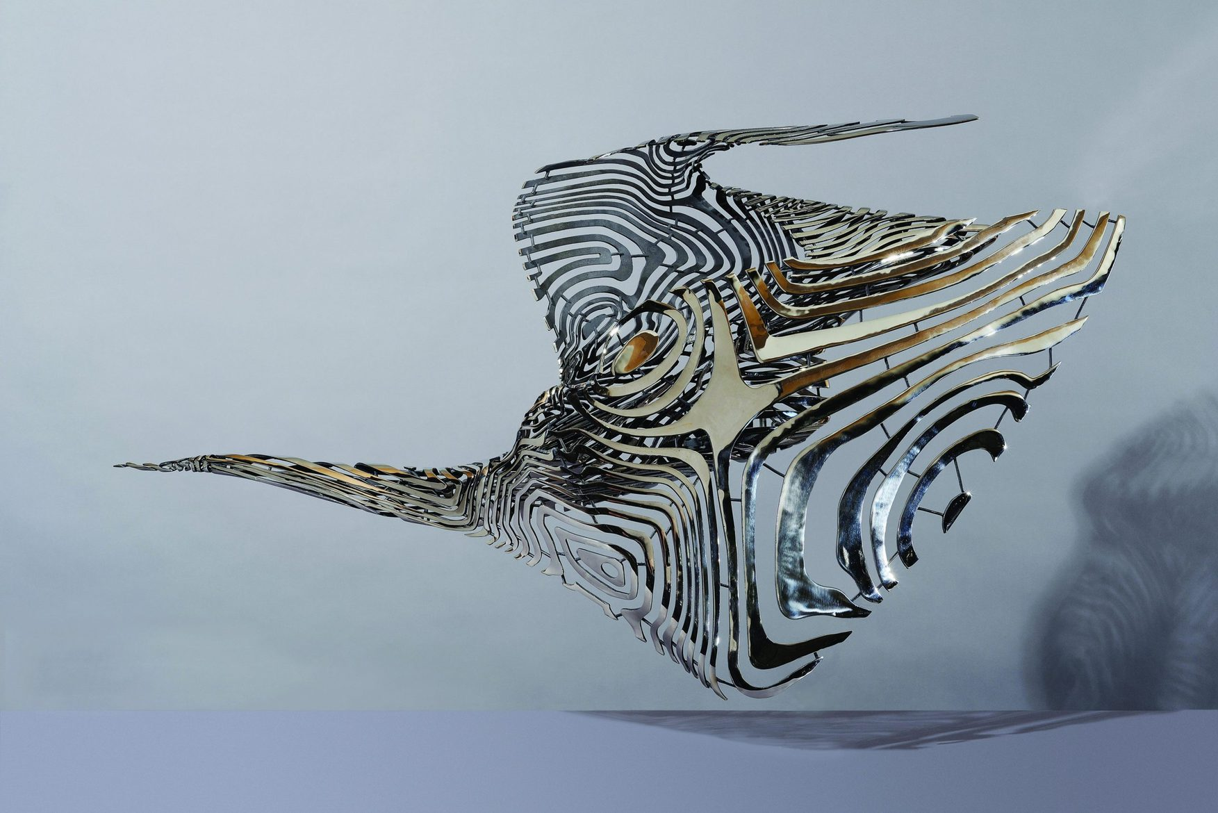 'Come to the Edge 2', 2012, stainless steel, 96 x 161 x 49 cm, edition 1 of 5 + 1AP
