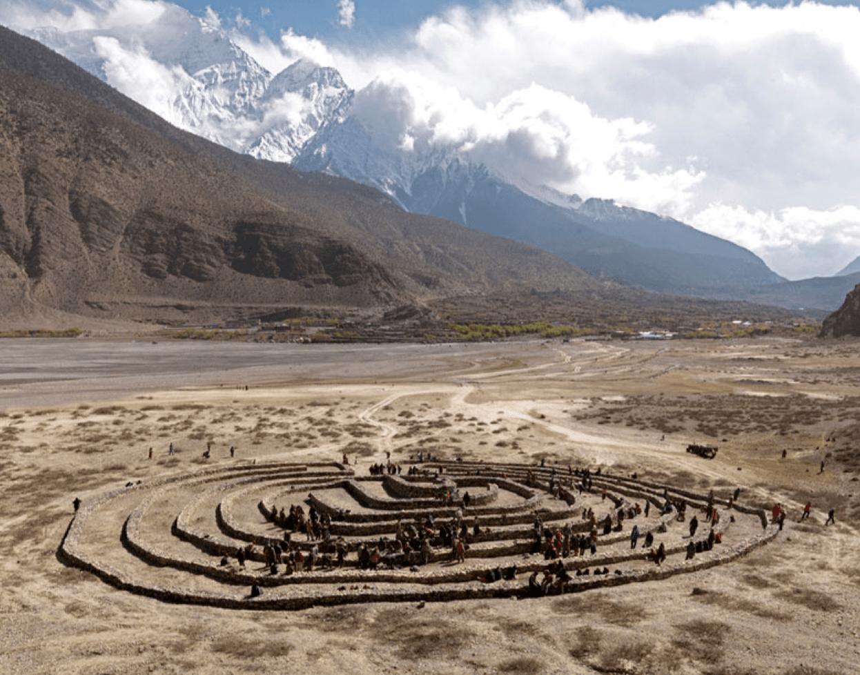 'Labyrinth, Nepal', 2008, C-Print, Diasec Face, 102 x  130 cm, edition of 12 + 1AP