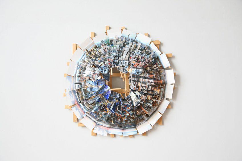 'New York Planet', 2017, C - print, woo d, museum board, 60 x 60 x 20 cm