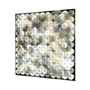 Dani Marti, 'Dust (peach)', 2019, customised corner reflectors, polished aluminium, 97 x 97 cm
