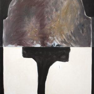 The Entrance To 'The End', 2020, acrylic on linen, 244x183cm, Lottie Consalvo