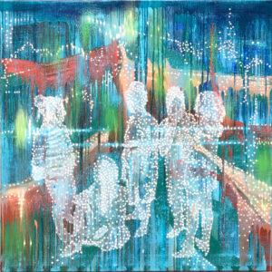 'Dissonant Group No 2', 2020, Oil on linen, 100 x 100 cm