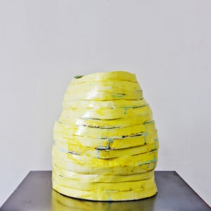 Claudia Terstappen, 'Yellow Tower', 2019, glazed ceramic, 38 x 45 x 30 cm