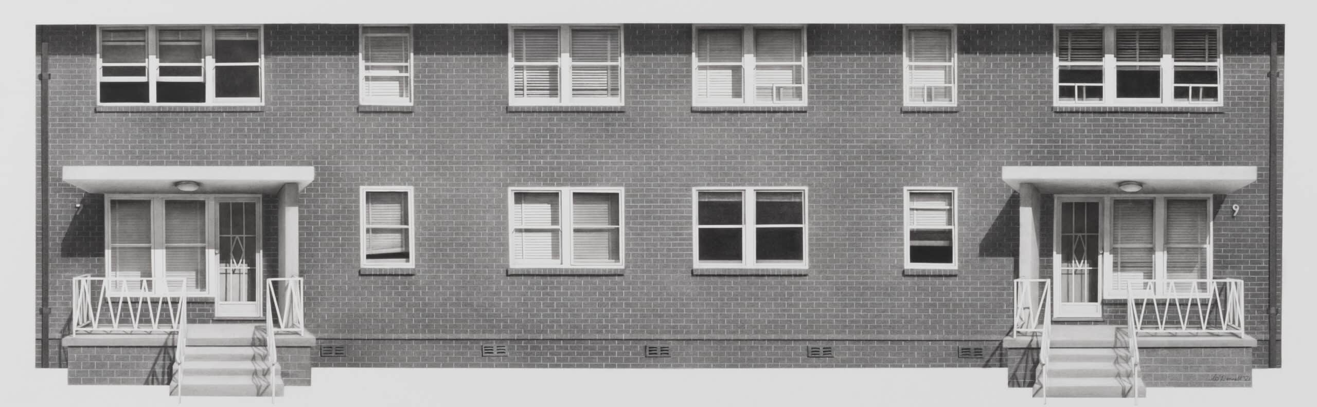 Catherine O'Donnell, 'Still Lives', 2021, charcoal and graphite on paper, 47 x 110 cm framed with museum glass