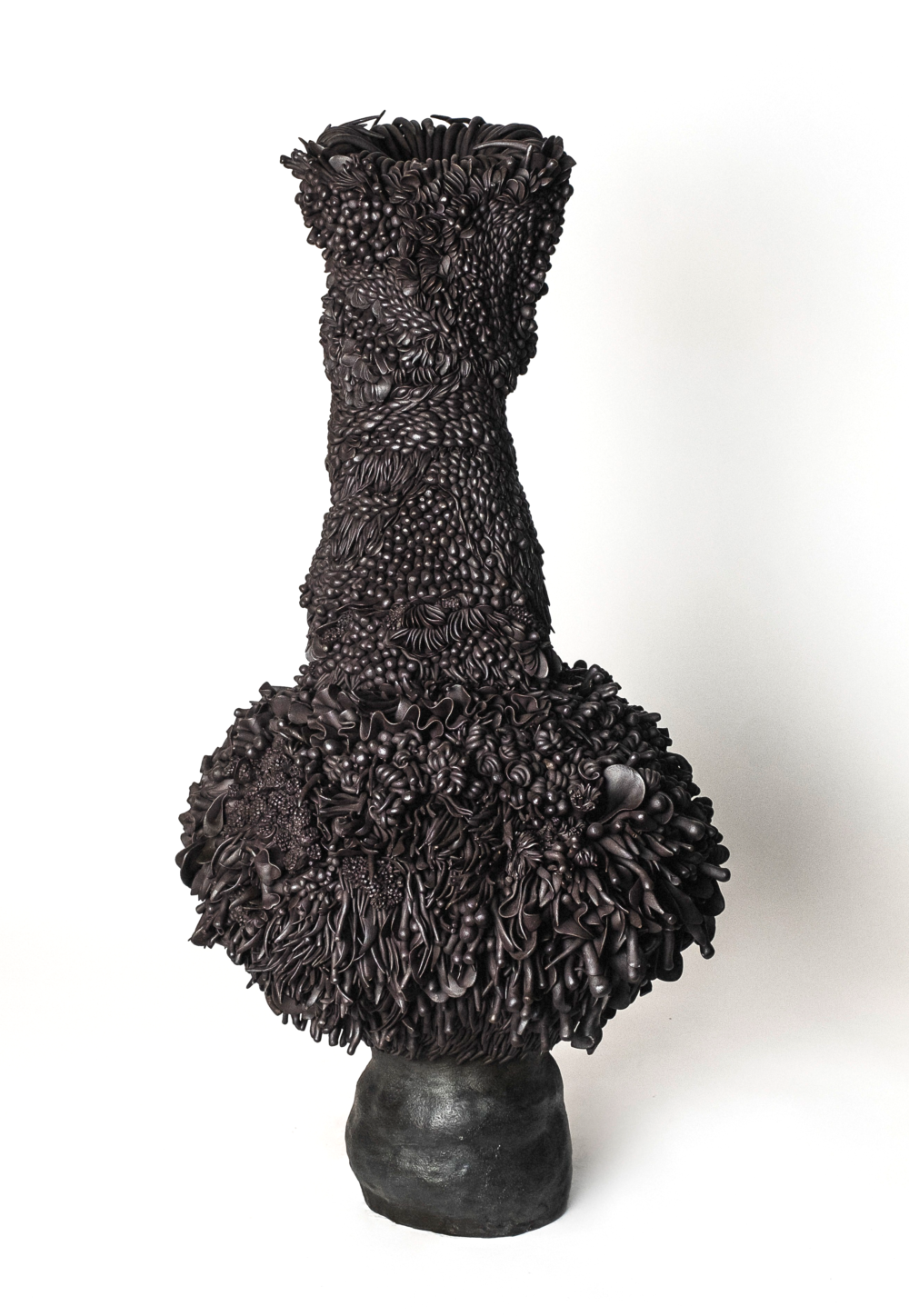 'Walking for Wildflowers', 2021, porcelain, stoneware and black oxide, 74 x 44 x 46 cm