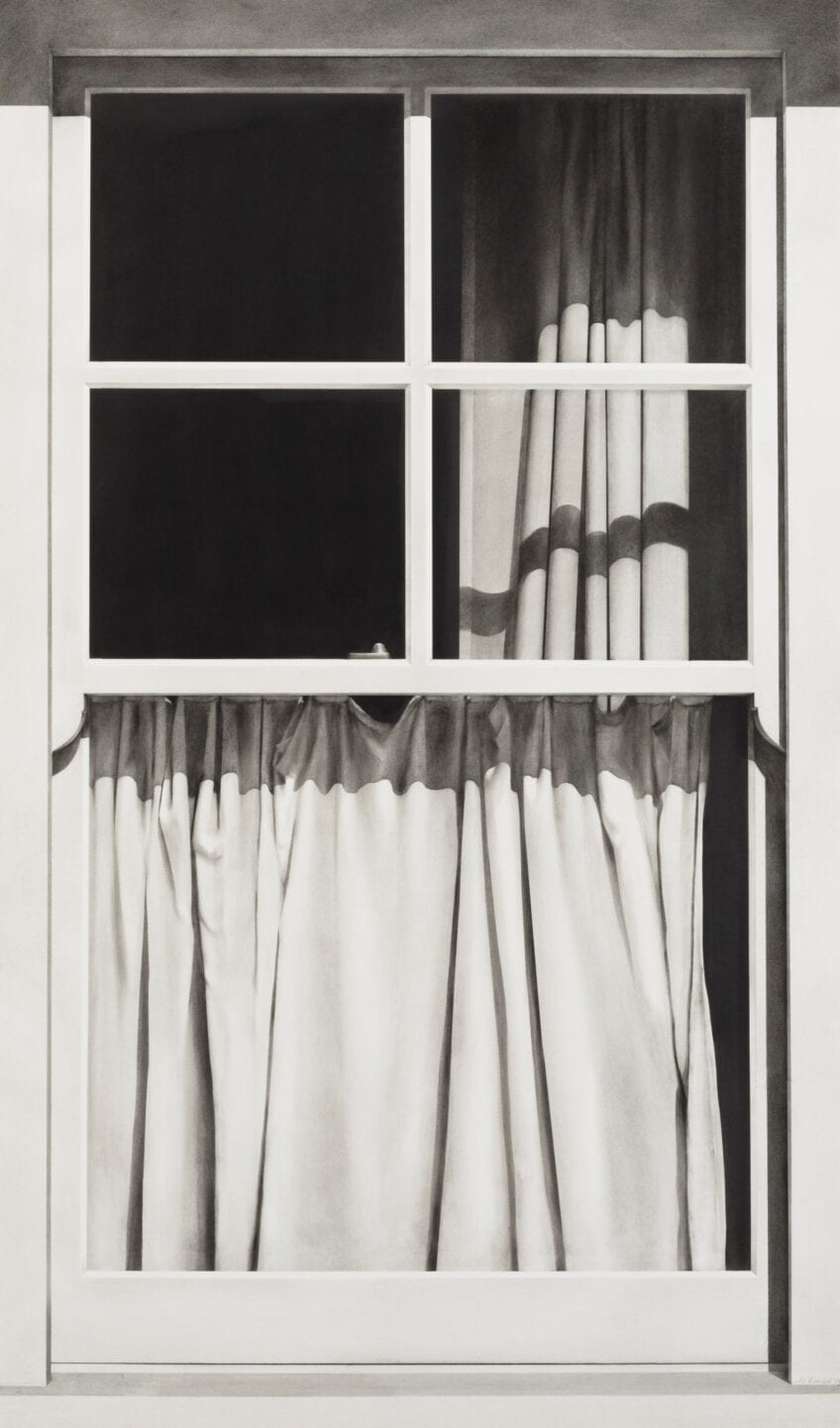 'Union Street, London #2', 2019, charcoal on paper, framed, 115 x 77cm