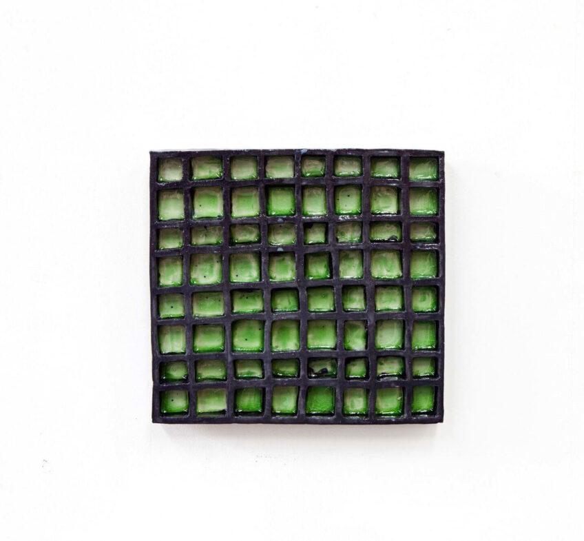 Claudia Terstappen, 'Green-black', 2019, glazed ceramic, 31 x 33 x 4 cm